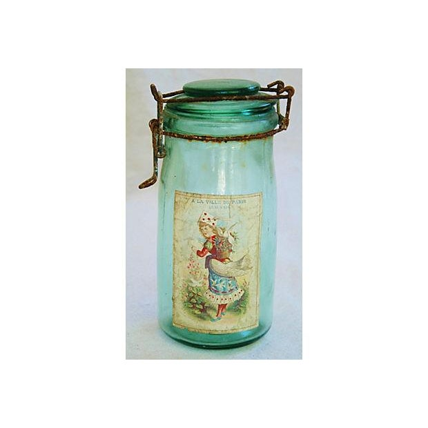 Image of Early 1900s French Preserve Canning Jars - Pair