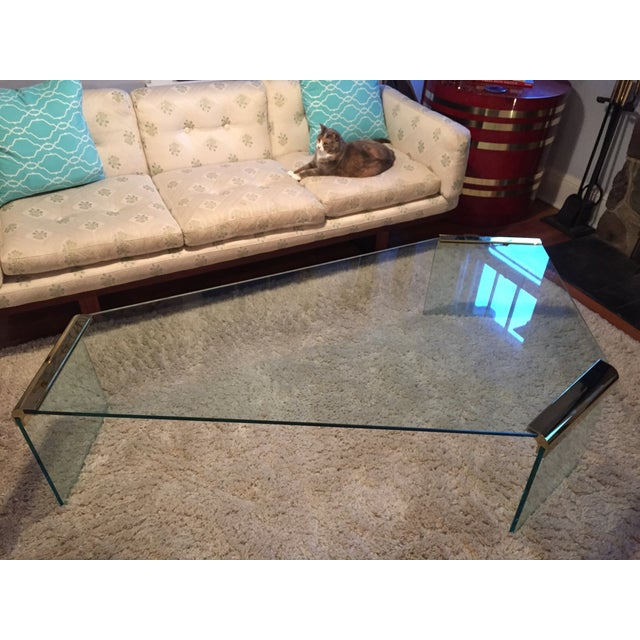 Leon Rosen Pace Collection Glass Coffee Table - Image 4 of 8