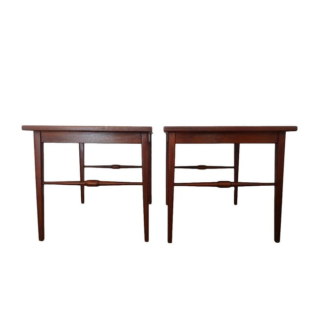 Danish Modern Wooden Side Tables - A Pair - Image 1 of 6
