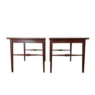 Danish Modern Wooden Side Tables - A Pair