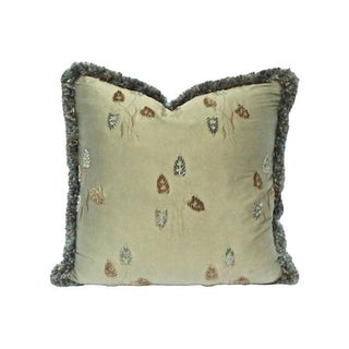 Vintage Embroidered Silk Wheat Pillow