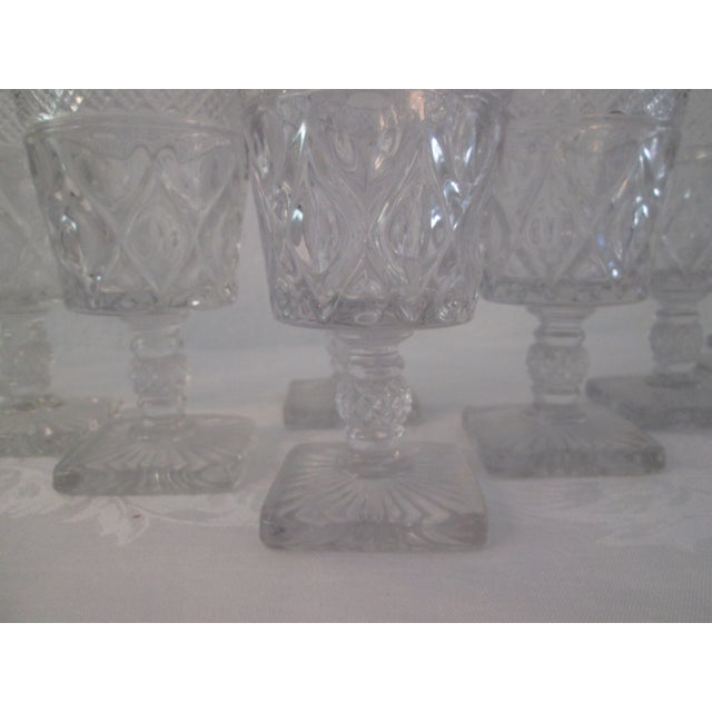 Mid-Century Footed Glass Tumblers - Set of 12 - Image 4 of 5