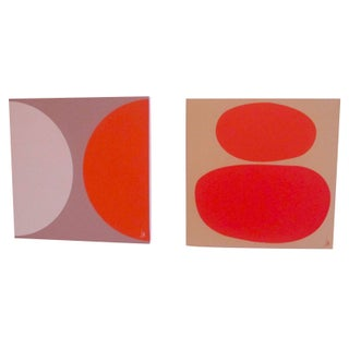 Jonathan Adler Canvases - A Pair
