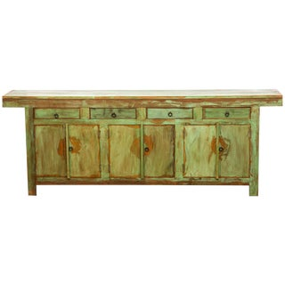 Antique Reclaimed Solid Wood Buffet Credenza