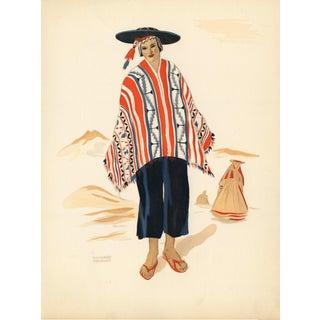 1941 Peruvian Costume Print