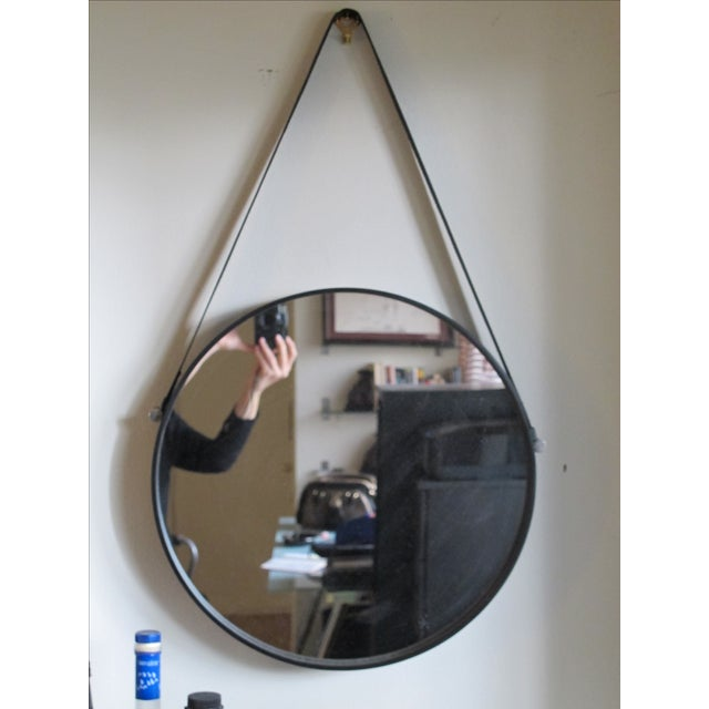 Leather Strap Hanging Mirror - Image 3 of 3