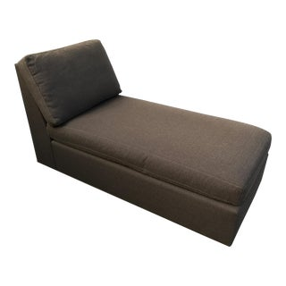 Crate & Barrel Chocolate Brown Chaise Lounge