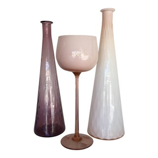 Cased Pastel Vessels - Set of 3