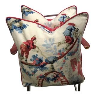 Schumacher Plaisirs De La Chine Porcelain Pillows - A Pair