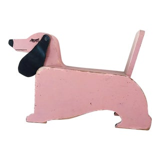 Vintage Pink Leather Ear Dog Child's Seat
