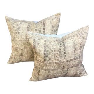 Antique Batik Pillows - a Pair