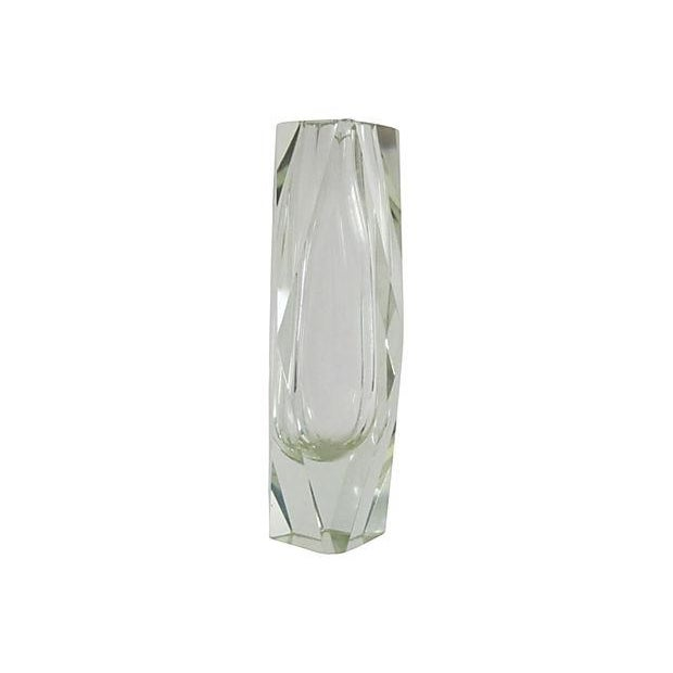 Lime Faceted Glass Vase - Image 2 of 3