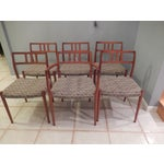 Image of MCM Danish Modern Teak Dining Chairs - Set of 6