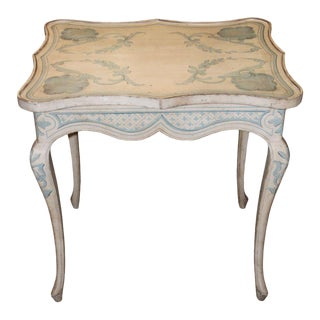 French Painted Side Table, 1950s
