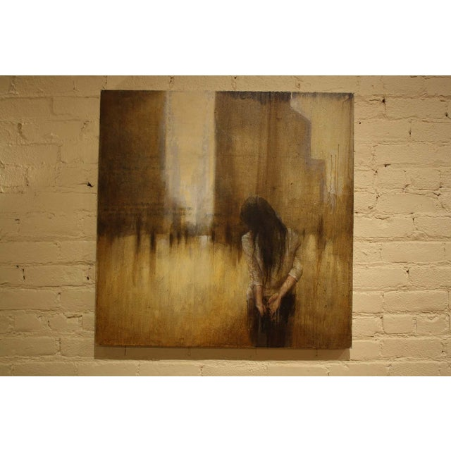 Image of Acrylic Painting of Woman From Behind