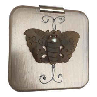 Jade Stone Butterfly Double Mirror