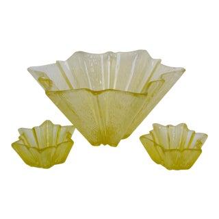 Vintage American Glass Bowls - Set of 3