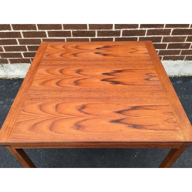 Vintage Danish Modern Extension Teak Table - Image 3 of 7