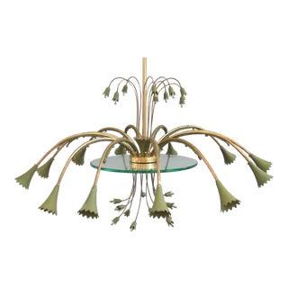 Stilnovo Brass 12 Light Chandelier