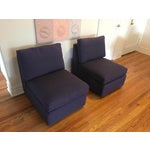 Image of ABC Home Cobble Hill Purple Slipper Chairs- A Pair