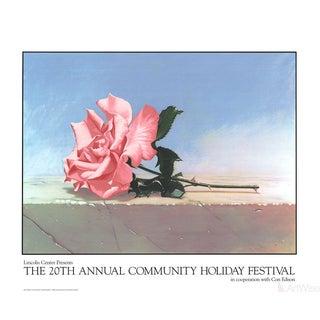John Kelley, Andalusia Rose, 1990 Serigraph
