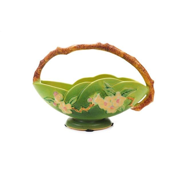 Antique Roseville Pottery Green Basket - Image 8 of 10