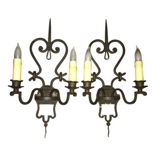 Murray's Iron Works Wall Sconces - A Pair