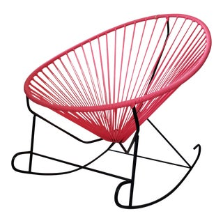Pink Woven Acapulco Rocking Chair