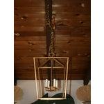 Image of Gilded Iron Foyer Lantern Ceiling Light