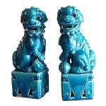 Japanese Royal Blue Foo Dogs - A Pair