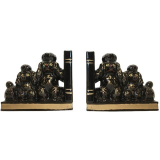 Vintage French Poodle Bookends - A Pair
