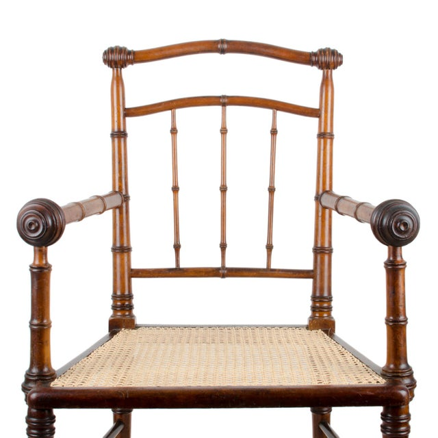 R.J. Horner & Co. Faux-Bamboo Armchair - Image 8 of 10