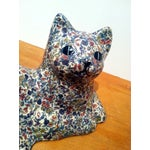 Image of Vintage Porcelain Floral Cat