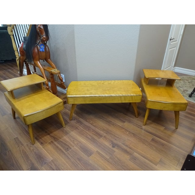 Image of Heywood Wakefield Cocktail Table & Side Tables - Set of 3