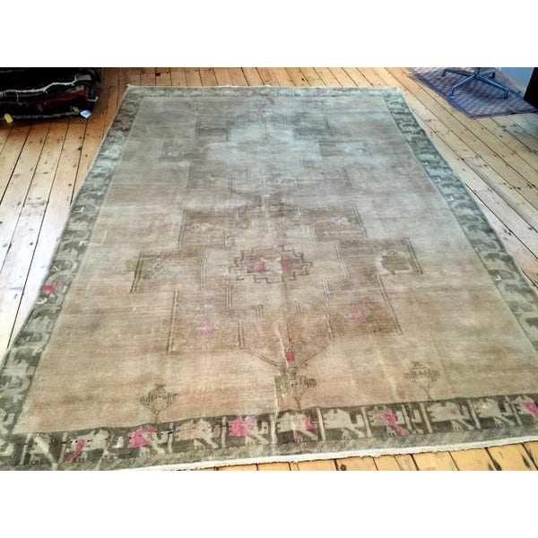 "Image of Vintage Oushak Carpet - 8'3"" X 11'5"""