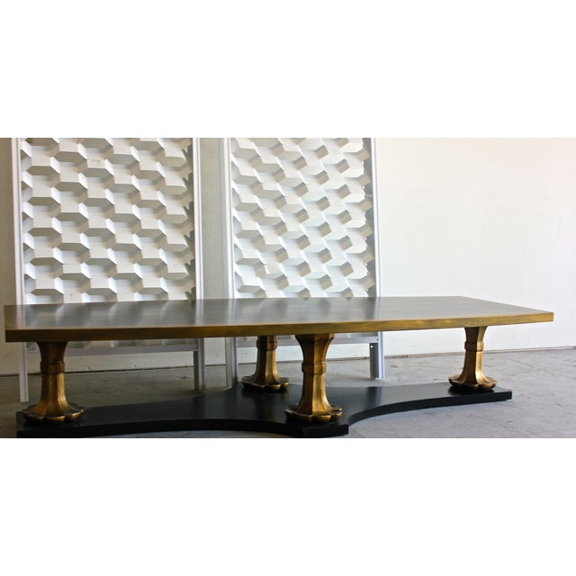 Monteverdi Monumental Hollywood Regency Coffee Table - Image 4 of 6