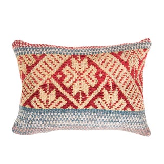 Blue and Red Peruvian Frazada Pillow