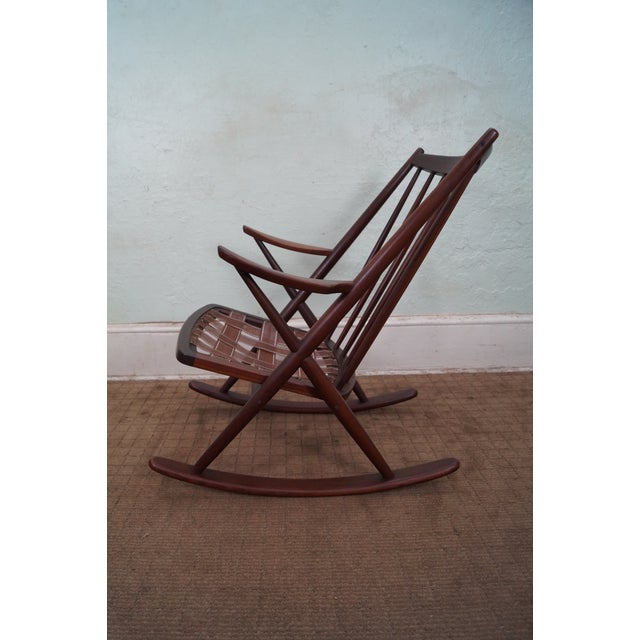 Frank Reenskaug Bramin Danish Teak Rocking Chair - Image 3 of 6