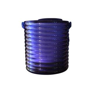 Lucite Blue Ice Bucket