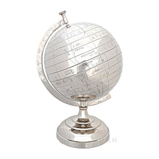 Modern Semi-Meridian Aluminum Globe