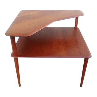 France & Sons Mid-Century Two Tiered Side Table