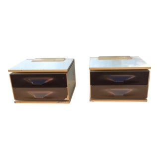 Raymond Loewy Chrome Night Stands - A Pair