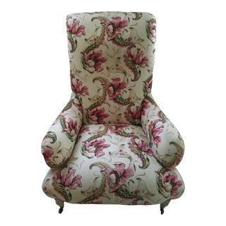 Floral Linen Armchair