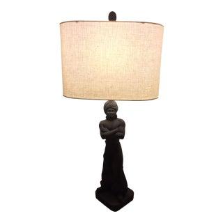 Mid-Century Chalkware Nubian Genie Lamp