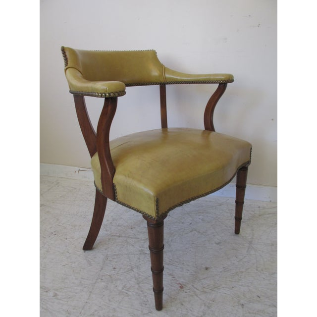 Vintage Butterscotch Leather Armchairs - A Pair - Image 5 of 11