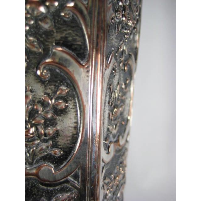 Image of 1890s E G Webster & Son Silverplate Trumpet Vase