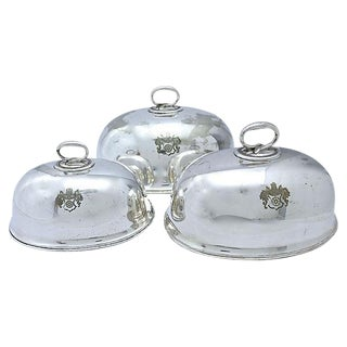 Antique English Elkington Cloches - Set of 3