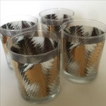 Image of Gold, Black & White Highball Glasses - Set of 4