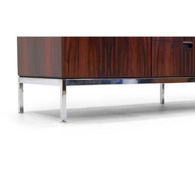 Exceptional Florence Knoll Marble-Top Rosewood Credenza - Image 8 of 9