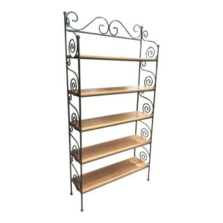 Charleston Forge Wooden & Cast Iron Scroll Bookshelf